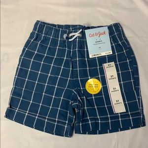 Cat and Jack blue stripped shorts
